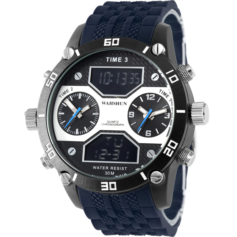 2018 New Luxury Brand Alloy Military Wrist Watch Analog Waterproof Men's Quartz LED Date Clock Fashion Casual Sports Watches Men 2014 new arrival fashion men sports dual movement analog watches military quartz luxury fashion brand led watch 30m waterproofed oversize wristwatch red