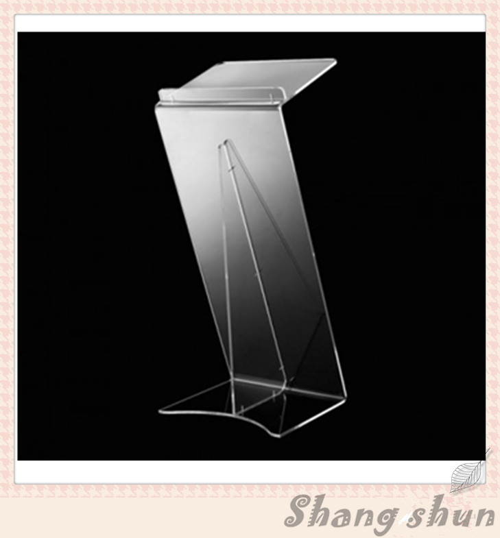 Modern Acrylic Furniture Z Shaped Acrylic Lectern Stands Clear Acrylic Z Style Lectern for Platform clear acrylic a3a4a5a6 sign display paper card label advertising holders horizontal t stands by magnet sucked on desktop 2pcs
