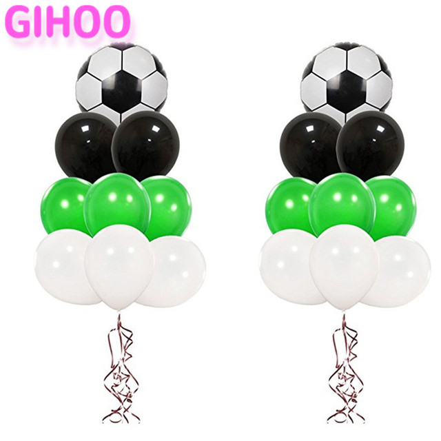 9PCS/Multi New Style 18inch Soccer Foil Balloons White Green Latex Balloons Birthday Party Wedding Decorations Celebration Toys