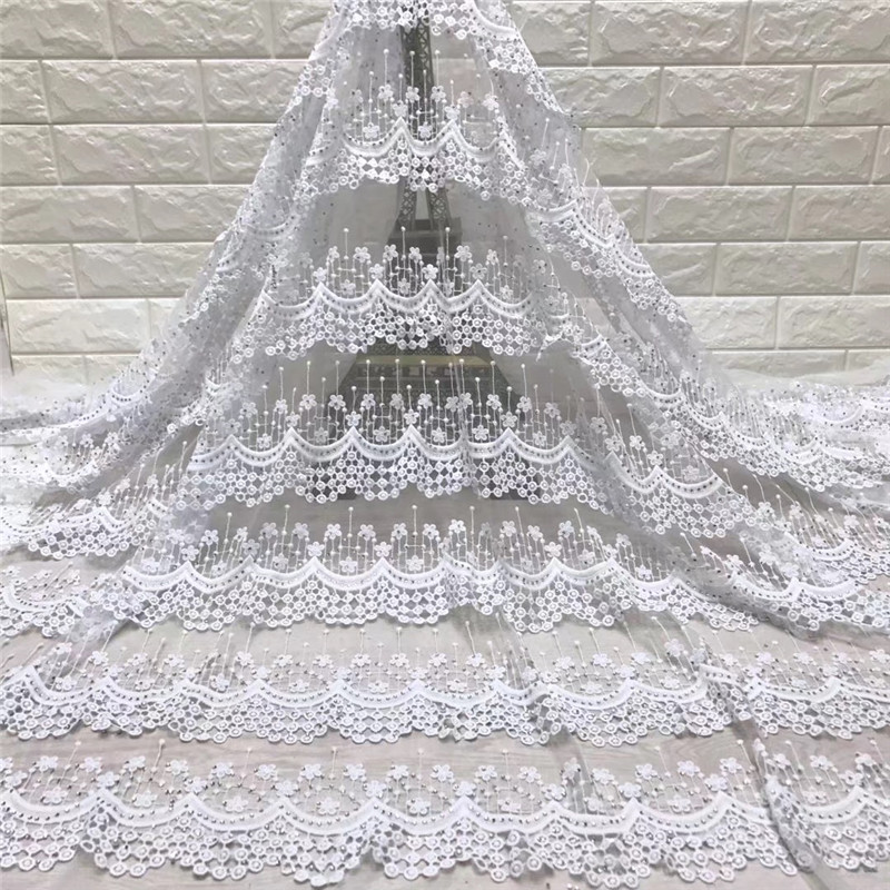 2019 White African Lace High Quality French Lace Fabric With Stone African Lace Fabric For Nigerian Wedding Dress 5142019 White African Lace High Quality French Lace Fabric With Stone African Lace Fabric For Nigerian Wedding Dress 514