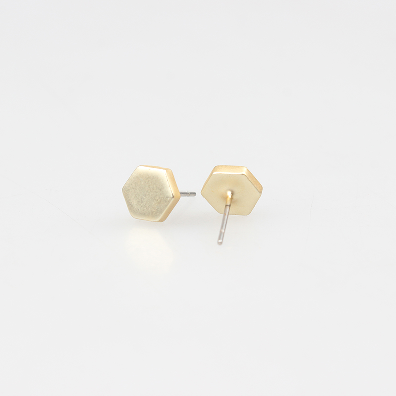 2017 New Fashion Alloy Silver Golden Interesting Nail Stud Earrings For Women And Men Date Party Gift JM-17037