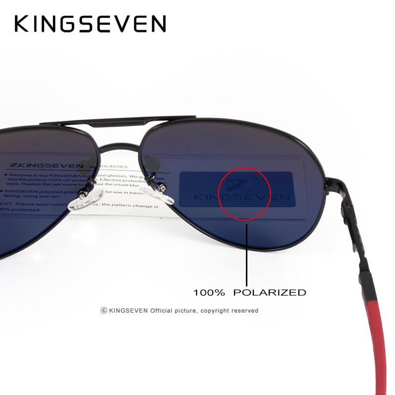 KINGSEVEN Aluminum Magnesium Men's Sunglasses Polarized Men Coating Mirror Glasses oculos Male Eyewear Accessories For Men K725 4