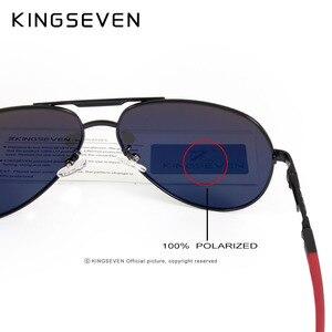 Image 5 - KINGSEVEN di Alluminio E Magnesio Occhiali Da Sole Polarizzati Degli Uomini del Rivestimento degli uomini Vetri A Specchio oculos Maschio Occhiali Accessori Per Gli Uomini K725