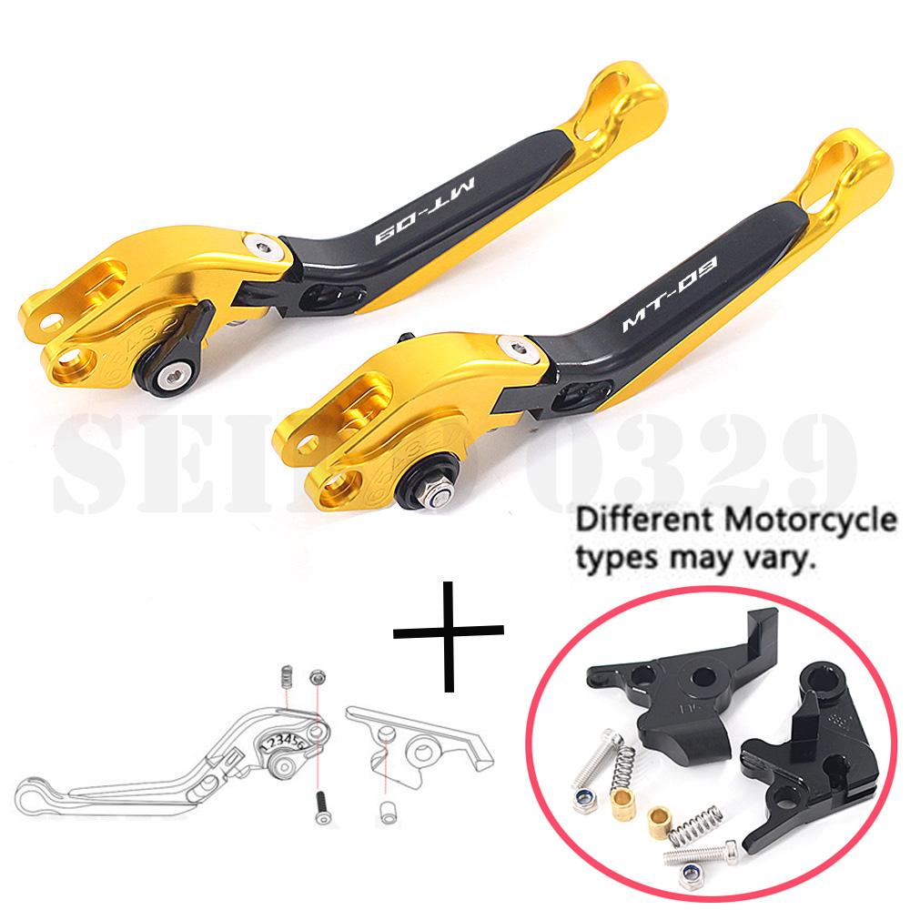 For YAMAHA MT-09 MT09 TRACER 2015-2016 CNC Motorcycle Accessories Adjustable Folding Extendable Brake Clutch Lever(China)