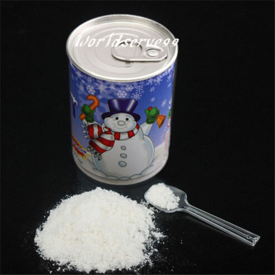 Canned instant magic snow fake artificial snow making for Artificial snow decoration