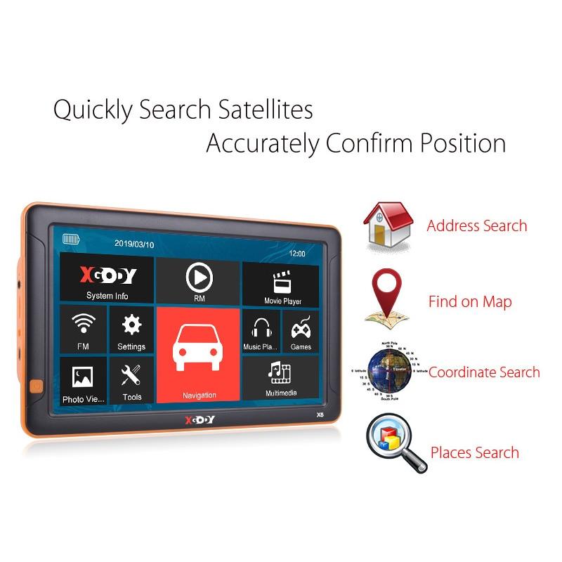 XGODY 9'' Car GPS Navigation Bluetooth AVIN 256MB 8GB Rear View Camera Navitel Europe Map Sat Nav Truck Navigator GPS Automobile