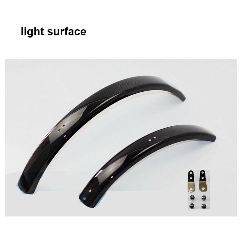 1set carbon fiber bicycle fender for Brompton bike front and rear mudguard fender egr 752354 rugged look front and rear fender flares