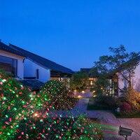 IP65 CHỐNG Thấm Nước Lawn Vườn Ánh Sáng Bầu Trời Sao Giáng Sinh Laser Chiếu Vòi Hoa Sen Đèn LED Lấp Lánh Sân Khấu Ánh Sáng