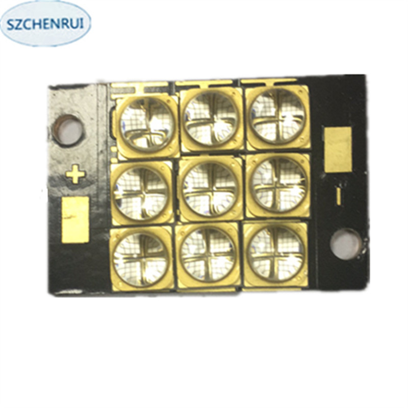 UV LED curing module 90 watts high power LED UV violet 6565 365 to 370nm 380 to 385nm 395 to 400nm 400 to 405nm 23*35mm board the new 300 watts high power led uv violet 6565 365nm 370nm 380nm 385nm 395nm 400nm 405nm 56 75mm board