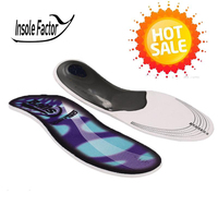 Two Size Premium Orthotic Insole Gel High Arch Support Insoles For Flat Foot Men And Women