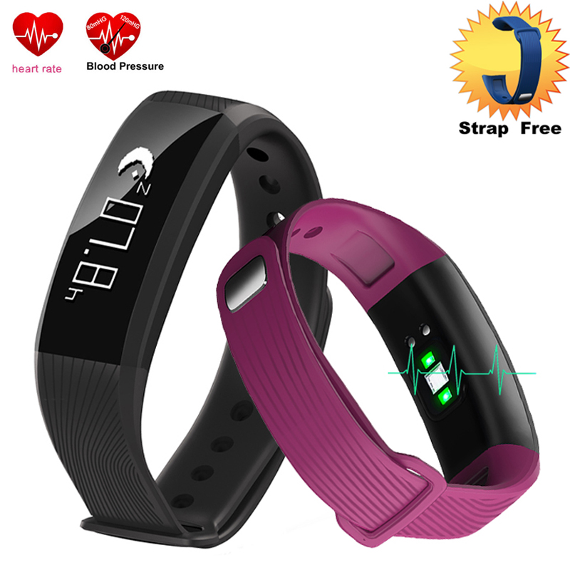2017 Smart Watch Android Waterproof Bracelet Blood Pressure Heart Rate Monitor Fitness Tracker M89 Sport Watches bluetooth Band
