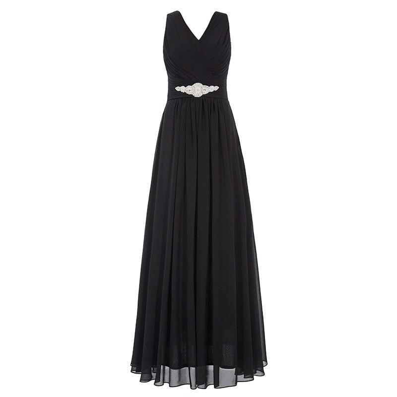 Tanpell lång v-halsa klänning billig sexig svart Golvlängd - Särskilda tillfällen klänningar - Foto 6