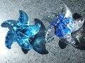 10 PCS LOTE FRETE GRÁTIS Por Atacado forma de estrela do mar de cristal botão do armário, punho da mobília, maçanetas de gaveta