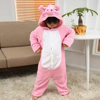 Flannel Kids Pajamas Animal Onesie Boys Girls Sleepwear Stich Pikachu Panda unicorn Halloween Christmas children Cute Nightie