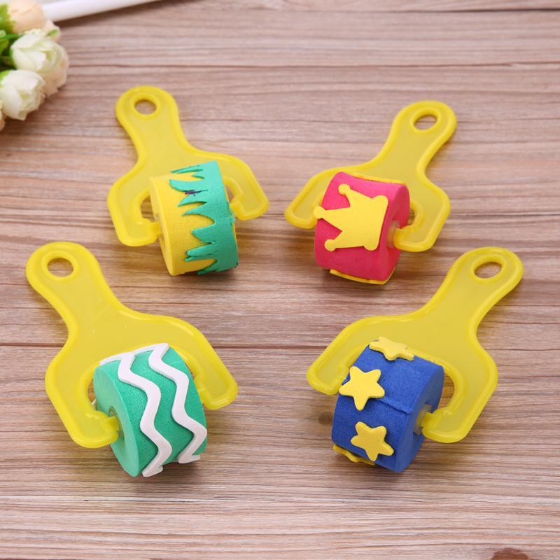 4Pcs-Creative-set-for-kids-yellow-sponge-brushes-children-kids-painting-graffiti-toys-plastic-handle-drawing-brush-drawing-toys-2