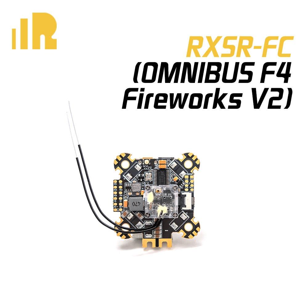 Contrôleur de vol de Drone de FrSky RXSR-FC R9MM OMNIBUS F4 feux d'artifice V2 FPV avec récepteur R-XSR/R9MM ICM20608 OSD pour Drone RC
