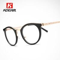 トップファッション眼鏡フレーム猫目で丸い形メガネ女