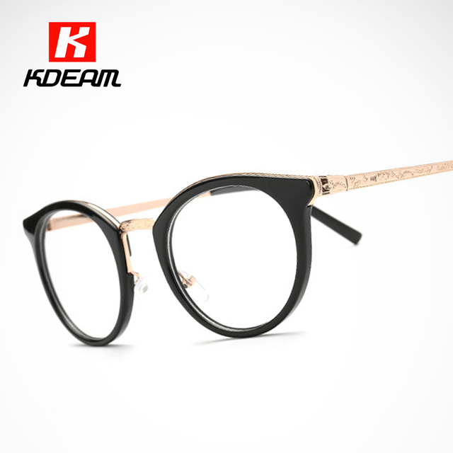 9a21e3d50b2 Top Recommend Fashion Eyeglasses Frame Cat Eye With Round Shaped Women  Glasses de grau feminino Eyewear With Brand Box