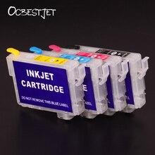 OCBESTJET T0731-T0734 Refillable Cartridge For Epson Stylus C79 C90 CX5900F CX8300 CX6900F CX7300 CX5500 With Permanent Chip