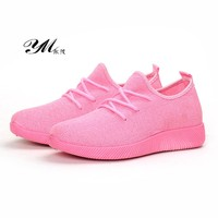 YM Spring Summer Fashion Ladies Net Shoes Women Casual Shoes Lady Breathable Soft Cloth Flats Candy