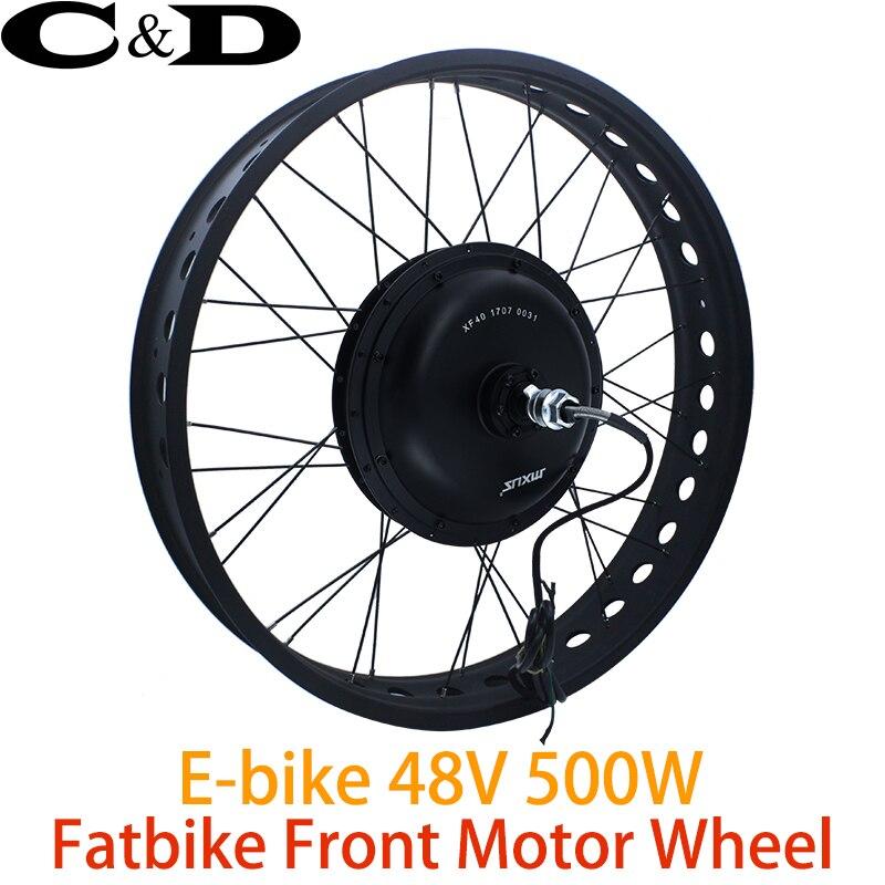 48V 500W Fat bike e bike kit Electric bike conversion kit Front Wheel Direct Drive motor