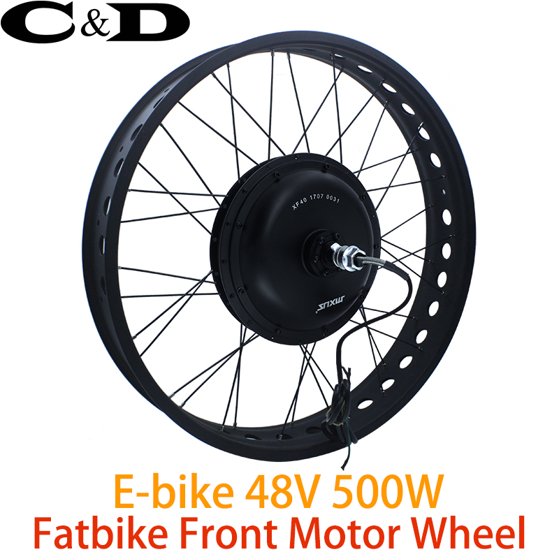 48v 500w Fat Bike E Kit Electric Conversion Front Wheel Direct Drive Motor 20 26 Mxus Xf40