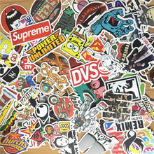 100pcs Lots Random Mixed Sticker for Snowboard Laptop Luggage Car Fridge DIY Styling Vinyl Decal home
