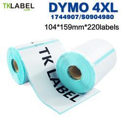 Термоклейкие этикетки 4x6 Dymo 4XL, 220 шт., совместимые с 1744907 этикетками, 99014, 11354, прямые термонаклейки