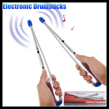 1Pair Electronic Air Drum Rock Beat Rhythm Stick Rods Bar Party Gimmick Music Percussion instrument Adult&Children Entertainment