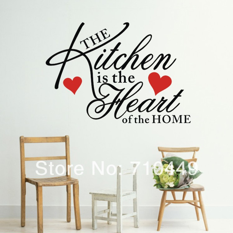 The Kitchen Is Heart Of Home Quote Wall Decal In Stickers From Garden On Aliexpress Alibaba Group
