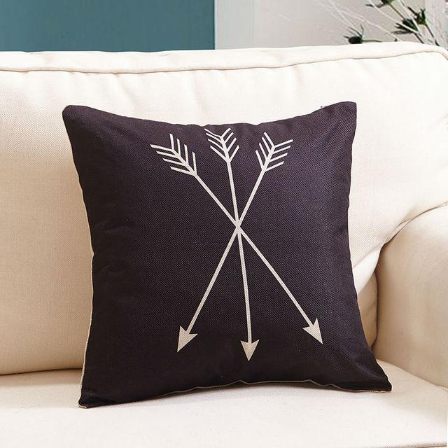Elk Head series Square Cushion Cover Linen Cotton Fabric 17.7″ sofa Decorative pillowcase