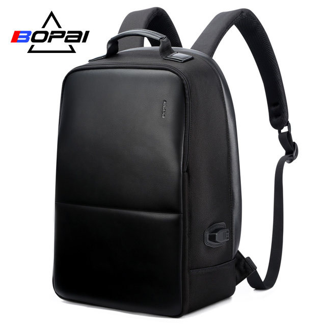 <b>BOPAI</b> USB зарядка Рюкзак Для мужчин кожа для путешествия ...