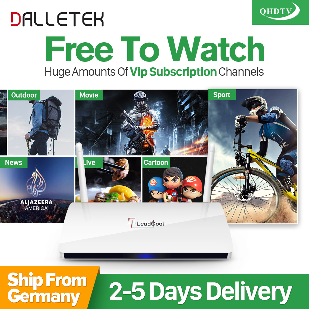 Dalletektv QHDTV 1 Year IPTV Subscription Leadcool Europe Arabic IPTV Box French Netherlands Turkish Smart Android TV Top Box