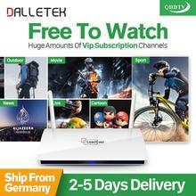 Dalletektv QHDTV 1 Año de Suscripción IPTV Leadcool Europa Holanda Turco Francés Árabe IPTV Caja Androide Elegante TV Top Box