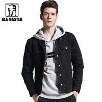LA мастер-бренд черный Для мужчин Джинсовые куртки осень S-XXXL стрейч мужской Куртки Хлопок Классический Повседневное Для мужчин джинсы Куртки пальто 2018