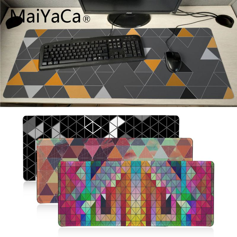Maiyaca Triangle Geometric Patteren Office Mice Gamer Soft Mouse Pad BIG SIZE Rubber PC Computer Gaming Mousepad Desk Pad