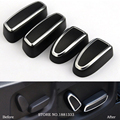 4pcs New Chrome Seat Adjustment Switch Knob Cover Trim button decoration For Land Rover Discovery 4/Range Rover Sport / EVOQUE