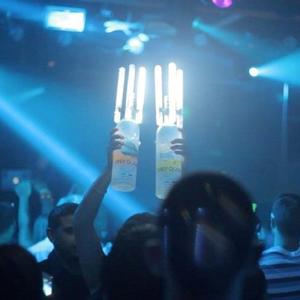 Hot Flashing Champagne Topper Night Club LED Bottle Strobe Baton Electronic Triangular Sparklers for Wedding/Party Decorations(China)