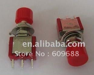 Momentary Red Push Button Switch,mini toggle switch PS-102