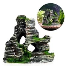 1pc Fish Tank Landscaping Ornamental Rockery Simulation Resin Aquarium Decoration for Home Supplies High Quality