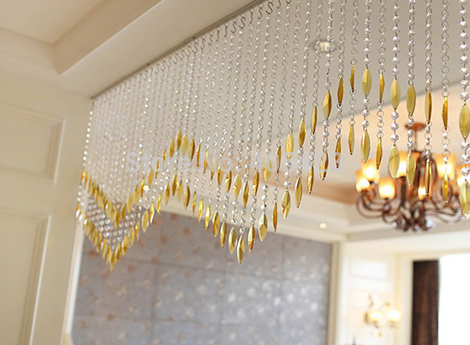 10strands/lot window door decor weave style glass crystal bead strands crystal bead curtain for doorways partition room divider