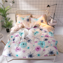 58 Flower Bedding Set Twin Full Queen King Size 3pcs Floral Pattern Duvet Cover pillowcase set Bohemian Bedclothes Bed