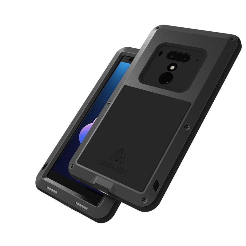Housse en aluminium pour HTC U12 Plus coque étanche robuste pour HTC U12 Plus coque antichoc pour HTC U12 +