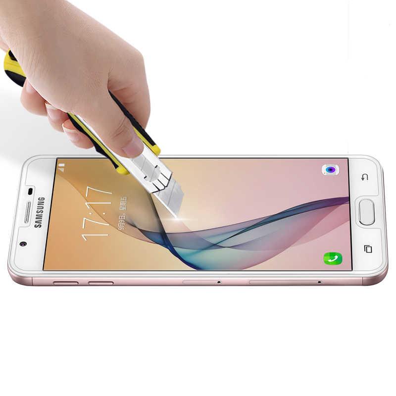 9H กระจกนิรภัยป้องกันหน้าจอสำหรับ Samsung Galaxy J3 J5 J7 2017 S6 S5 S4 A5 A3 2016X3 Grand Prime ฟิล์มใส