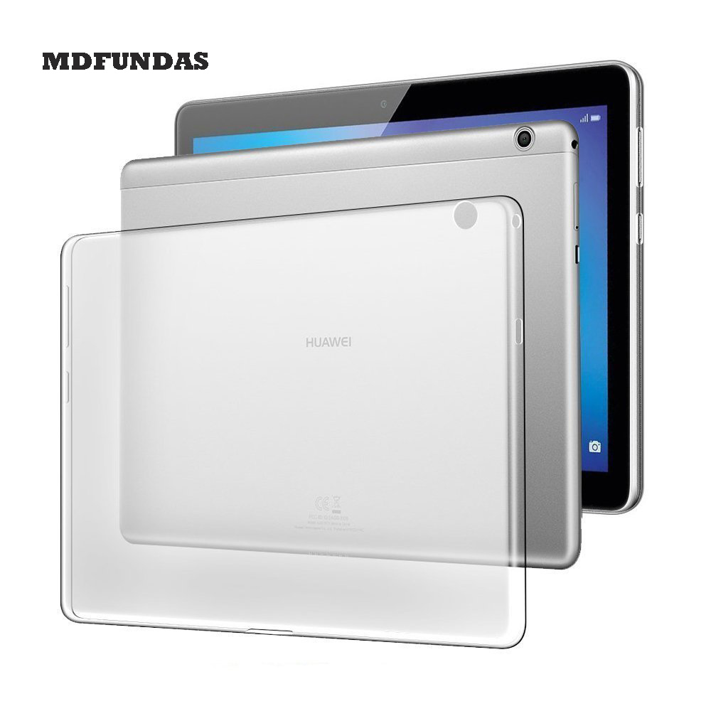 For Huawei Mediapad T3 10 Case Soft TPU Silicone Transparnt Matte Back Cover Shockproof 9.6 Inches Tablet Case Shell YNMIWEI for ipad mini4 cover high quality soft tpu rubber back case for ipad mini 4 silicone back cover semi transparent case shell skin