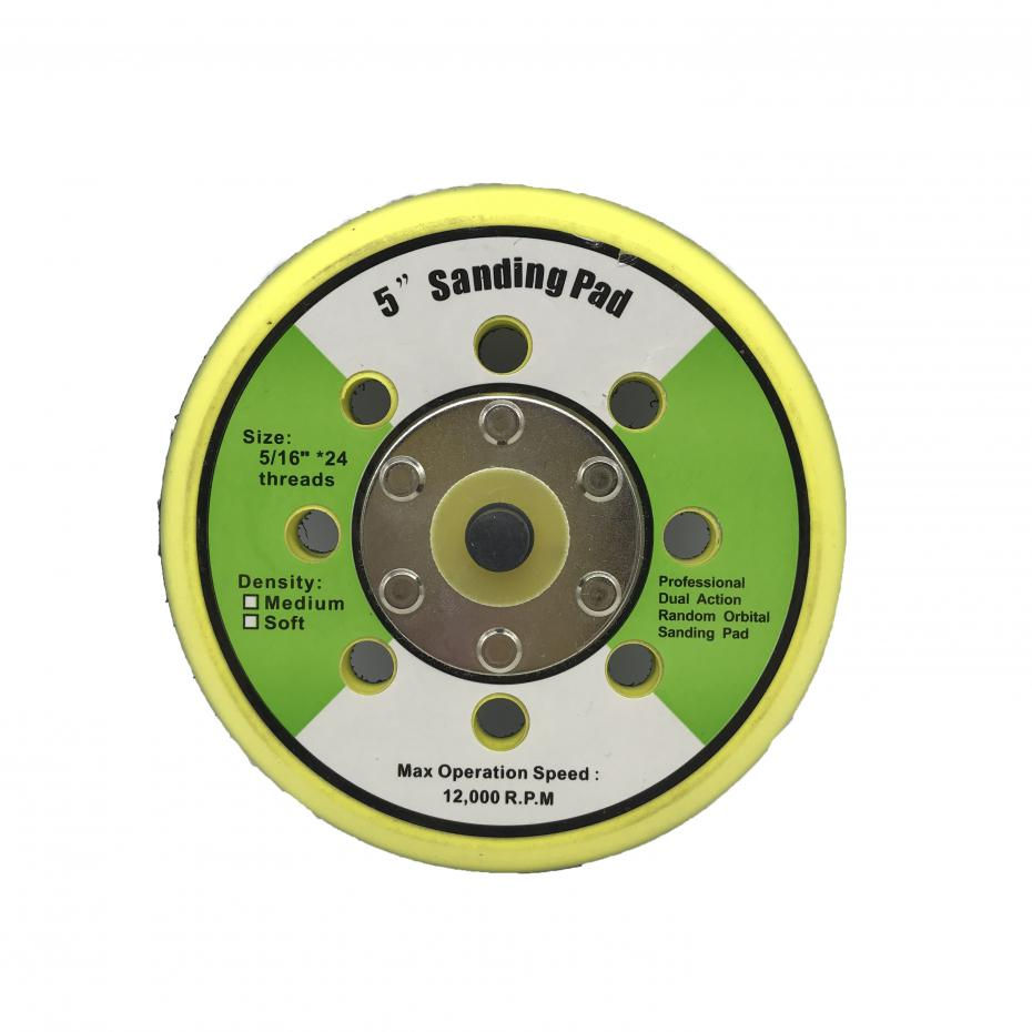5 Inch 12000rpm Dual Action Random Orbital Sanding Pad Plate With 8 Holes For Pneumatic Sanders Disc Air Polishers