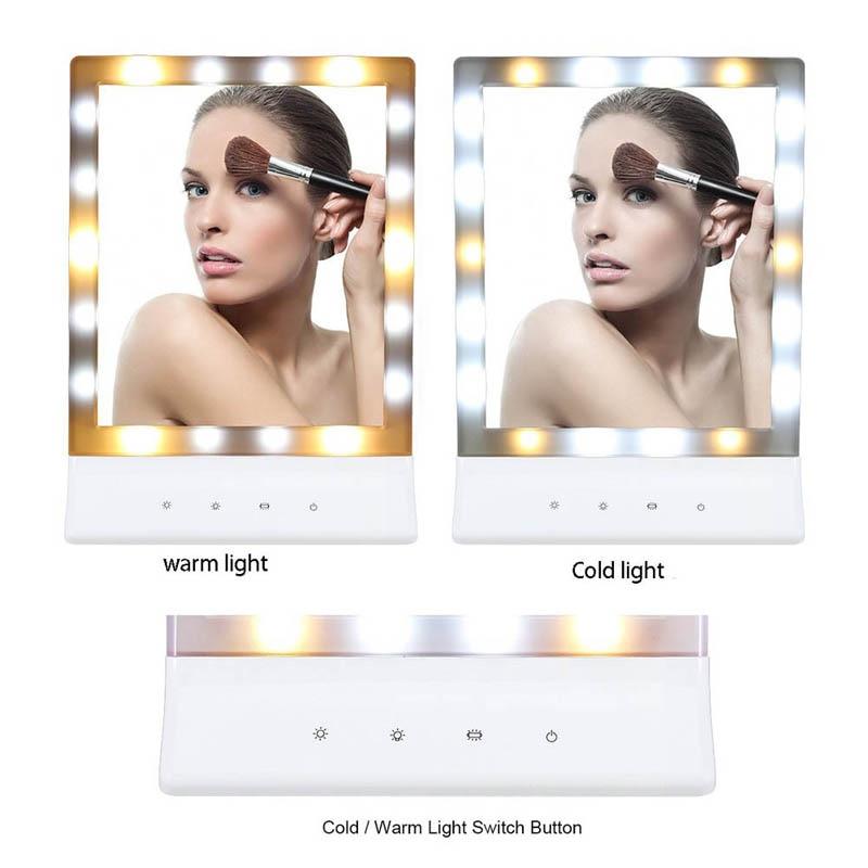 Haut Pflege Werkzeuge Schminkspiegel Neue 1 Satz Wasser Spray Led Make-up Spiegel Lampe Usb Make Up Spiegel Desktop Dressing Neue Kleine Kosmetik Spiegel Für Frauen