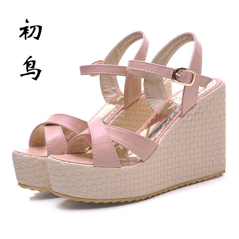 2017 Size 32-43 Fashion Simple Sexy Women Wedges Sandals High Heels Ladies Pumps Shoes Woman Summer Style Chaussure Femme Talon lloprost ke 2017 summer new style fashion sandals of woman ladies shoes on heels big size 32 45 three color woman sandals lyf015