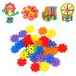 100 150pcs colorful plastic snowflake building blocks educational toy new hot .jpg 250x250