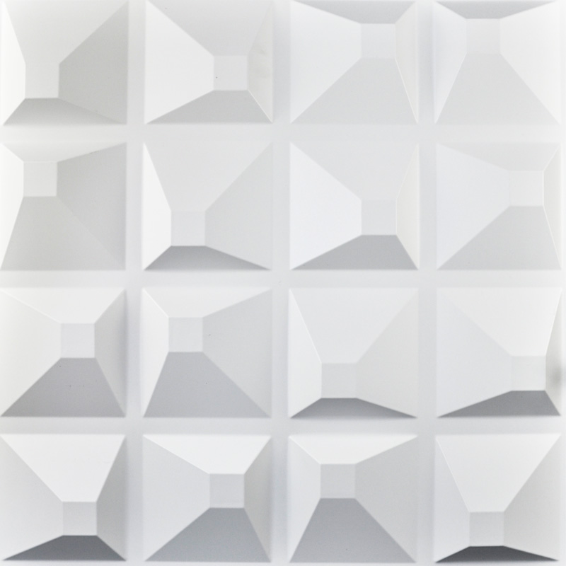 Decorative Plastic 3D Wall Art Wall Tile Pack of 12 Tiles ...